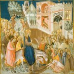 Pietro Lorenzetti (c. 1280 - 1348)  Assisi Frescoes: Entry into Jerusalem  Fresco, about 1320  ower Basilica, San Francesco, southern transept, Assisi, Italy